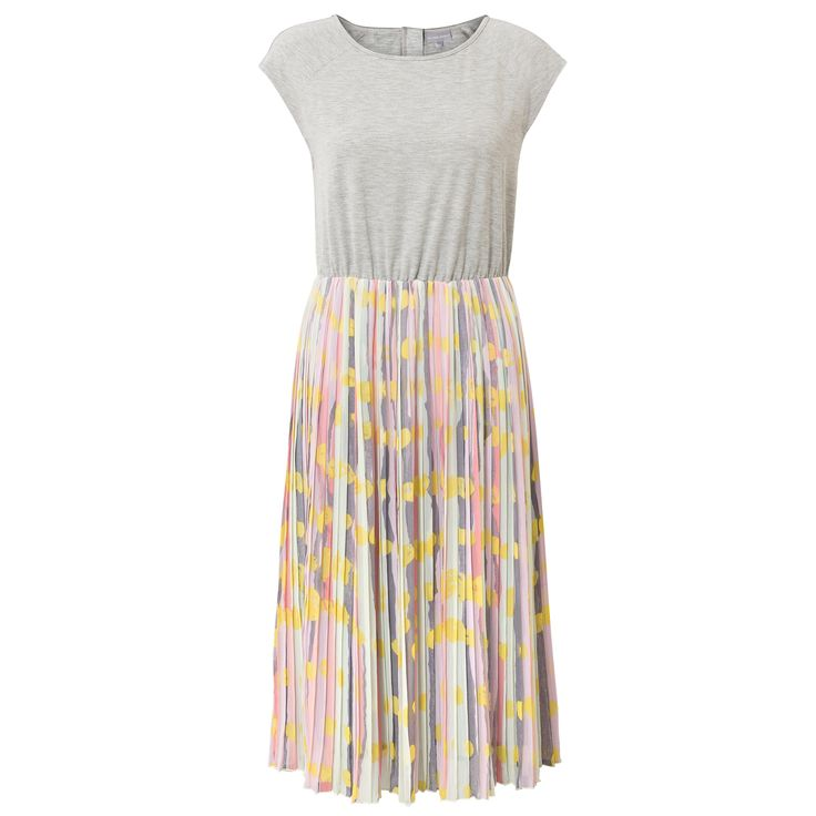 Buy the Alani Stripe Spot Midi Pleated Dress at Oliver Bonas. Enjoy free worldwide standard delivery for orders over £50.