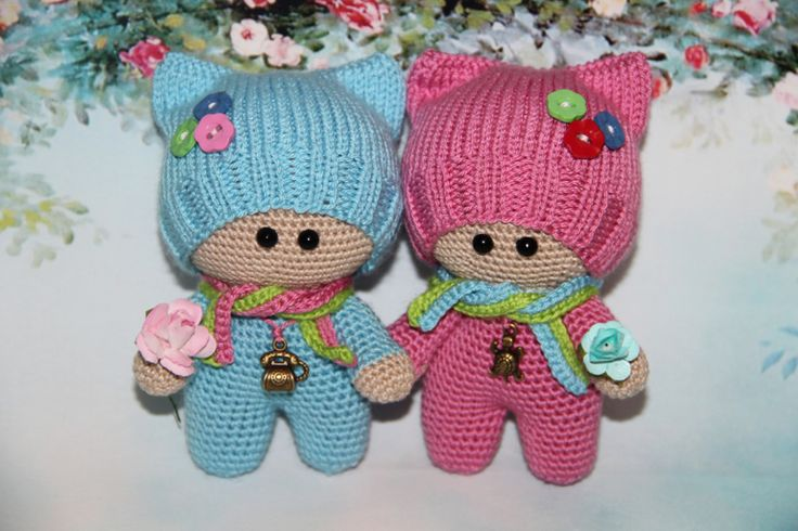 МК!!! игрушки крючком схемы вязания игрушек малыш йо-йо