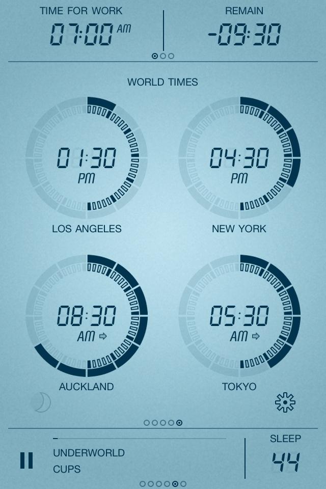 Touch LCD / Designer Speaking Clock / #gui  #ui  #iphone  #tech / Light Pillar