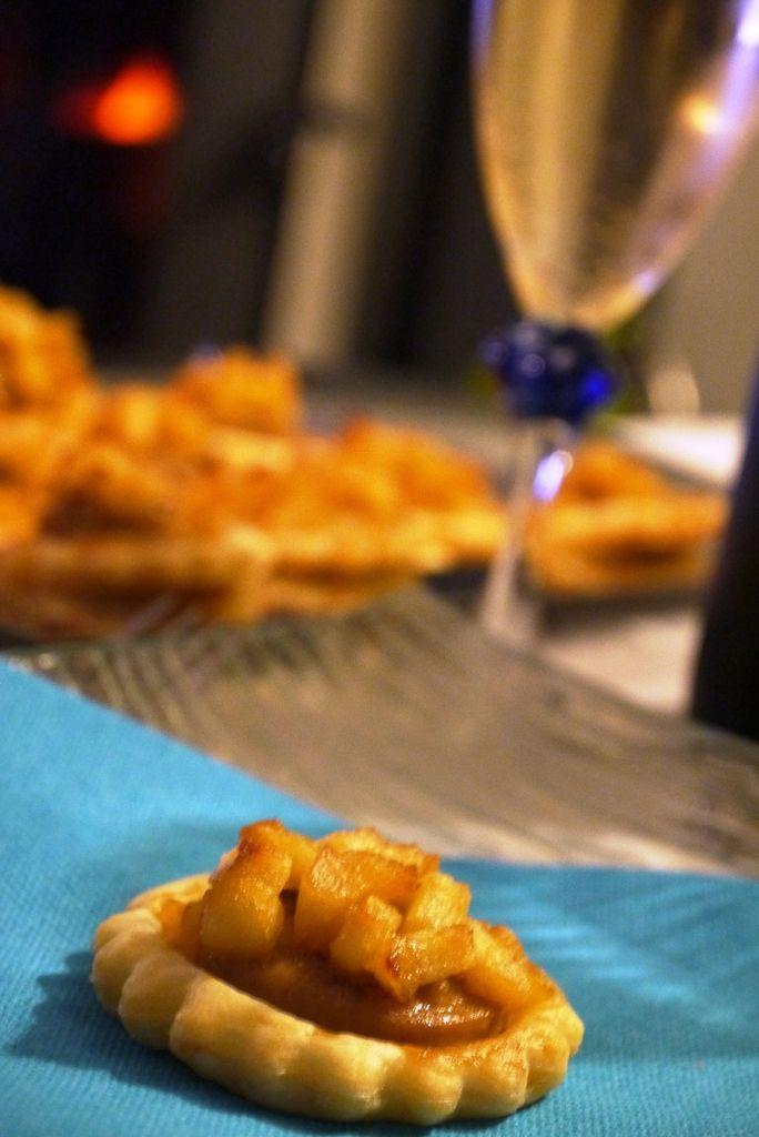 Tartelettes aux pommes et boudin blanc