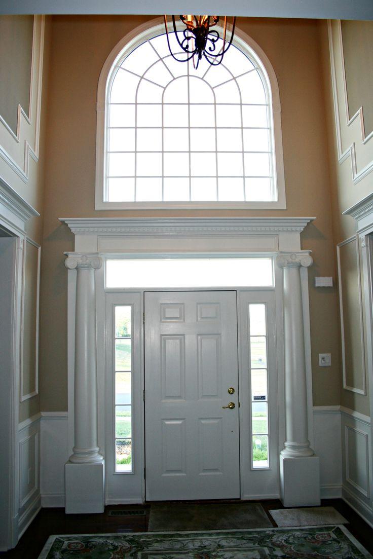 Door_Surround_with_Round_Columns   Foyer design, Foyer ...