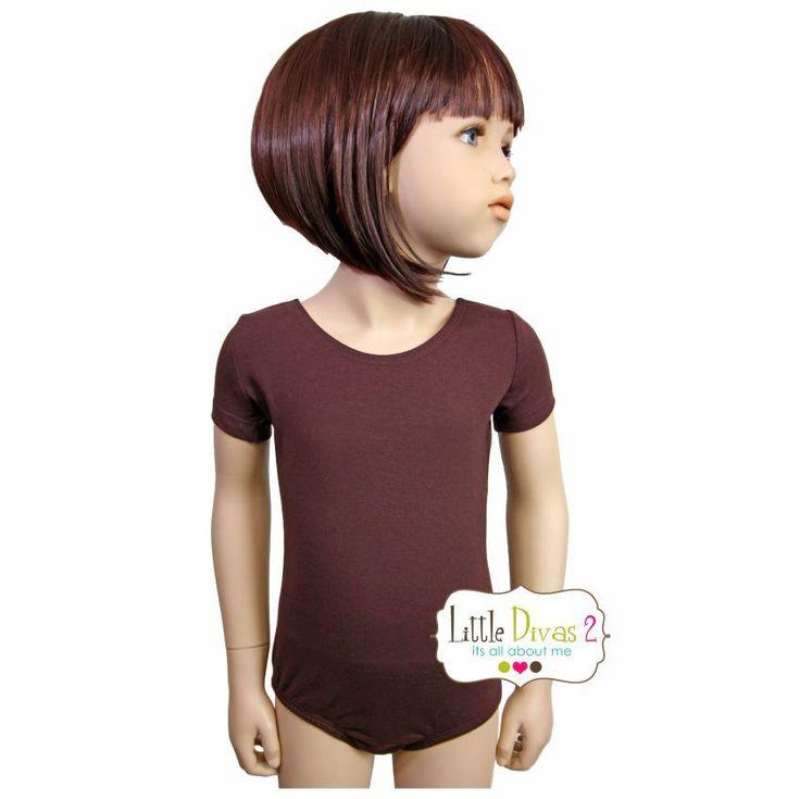 BROWN LEOTARD (Child) Short Sleeve