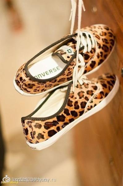 Кеды леопардовые
