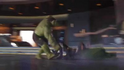 Hulk Smashing Loki (The Avengers) on Make A Gif