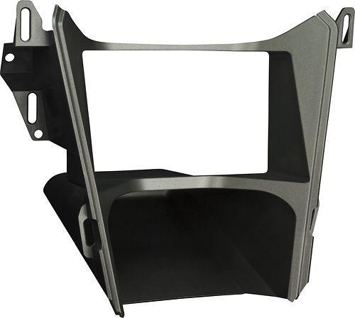 Metra - Dash Kit for Select 2010-2015 Chevrolet Equinox/Gmc Terrain with mono info screen - Gray, 99-3307G