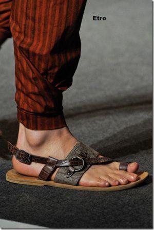 Etro sandalia de piel ara hombre