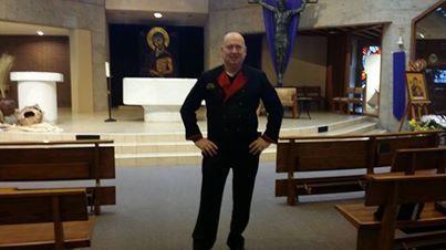 Bruno at San Martin Church in Yorba Linda this morning before his speech