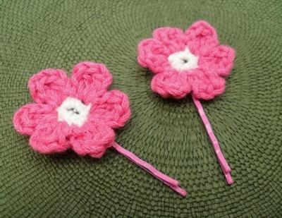 Haarspeldjes roze bloemen