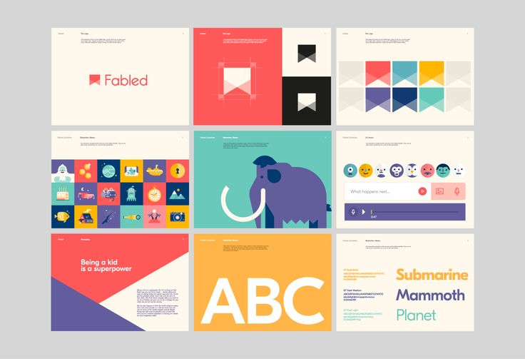 Brand guidelines for Fabled.