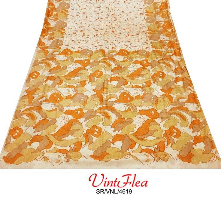 materiales abstracto utilizado indio artesanía antigua tela sari sari vendimia decoración del hogar de color beige tejido de mezcla de seda estampada reciclado mujeres de costura hechos a mano envuelven arte upcycled vestido pareo: Amazon.es: Hogar