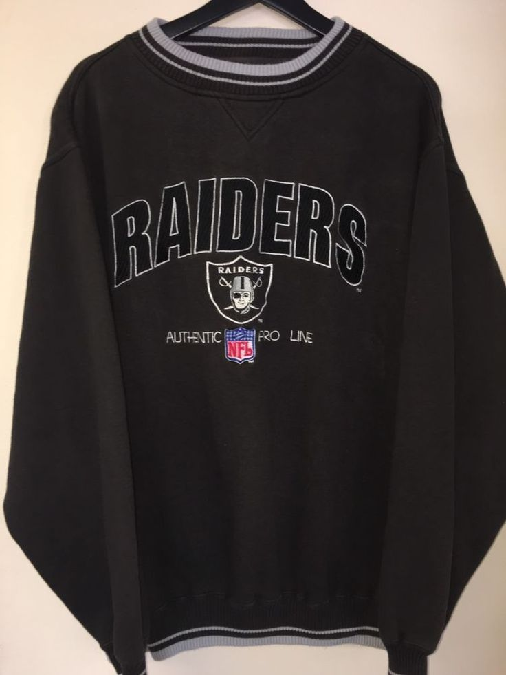 Proline Logoathletic NFL Raiders Pullover Sweatshirt     eBay