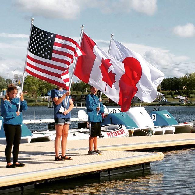 Awarding Ceremonies on Day 2 of the World #Championships #WDBRC #WDBRC2015 #Welland #Ontario #Canada #travel #dragonboat #sports #teamsports #teamwork #USA #Japan
