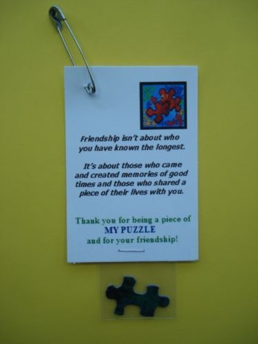 24 Scout Swaps for Girl Friendship Piece of My Puzzle | eBay