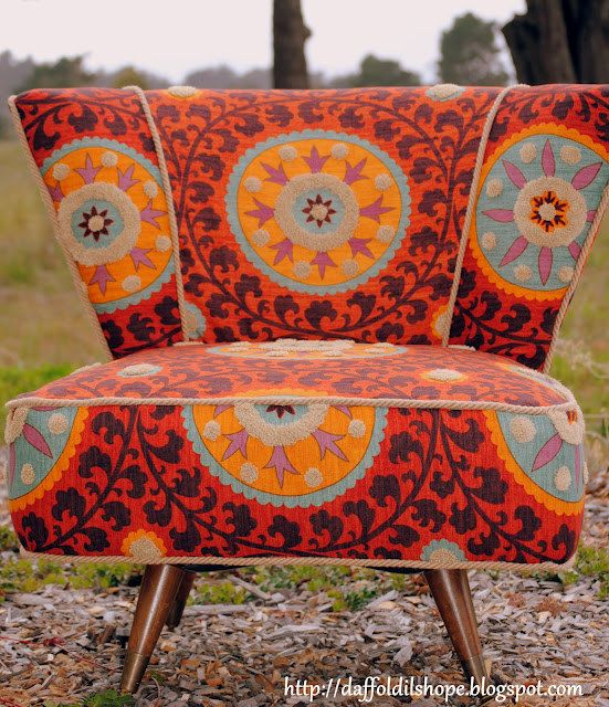 Slipcovers For Sofas Tribal sunset chair upholstery fabric by Iman