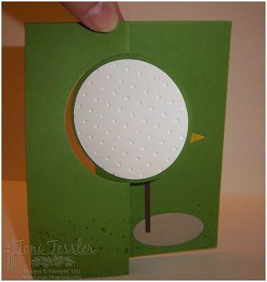 Toni Tessler (tonistamps) Independent Stampin Up Demonstrator. Golf ball stampin up Thinlit flip it card