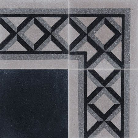 - cement tiles CROISILLON F/A 01.27.07 - Couleurs & Matières