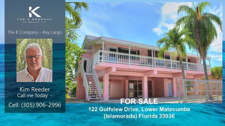Islamorada Luxury Waterfront Home for Sale – Port Antigua, FL - Kim Reeder - The K Company  https://gp1pro.com/USA/FL/Monroe/Islamorada/White_Marlin/122_Gulfview_Dr__Lower_Matecumbe_FL_33036.html  This is the one! Bayside canal front just minutes to bay or ocean channels 3 & 5 in the beautiful waters of Islamorada. Awesome White Marlin private Beach. 2/2 up and 1/1 down. Down may be non-conforming. 69 feet of concrete dock with davits and Tiki. There's an elevator for groceries, fenced yard…