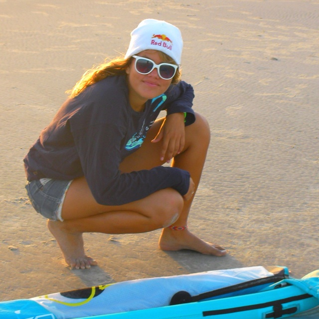 A rising star in kite surfing