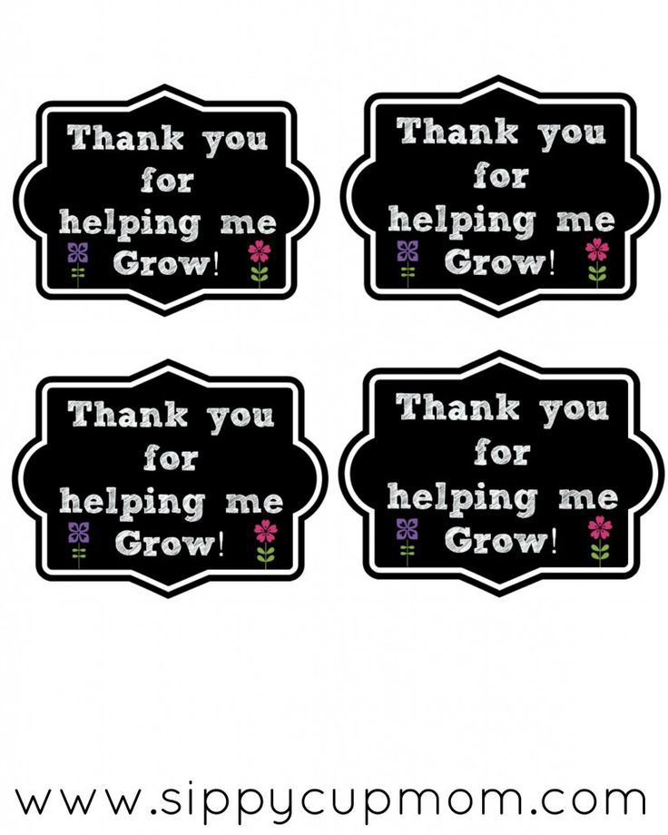 Thank You for Helping Me Grow Printable + 25 Teacher Appreciation Gifts