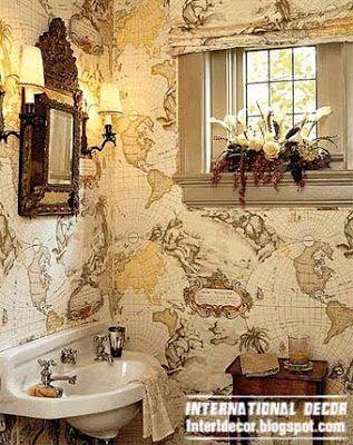 Papel de parede moderno para casas de banho de 2014, de 10 regras básicas para banheiro wallpaper