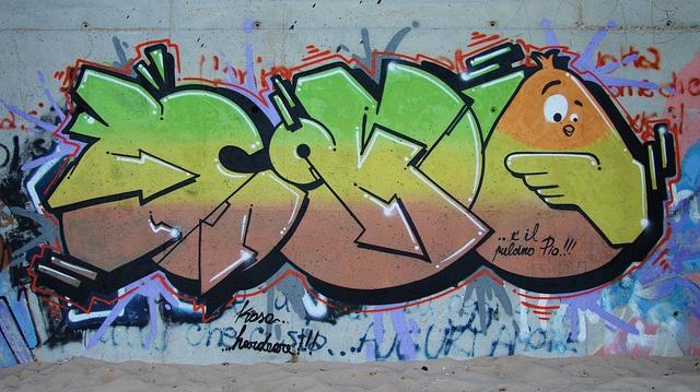 Pulcino Pio street art! via Flickr