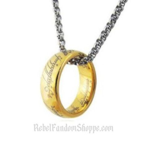 LOTR-The One Ring Metal: Silver Alloy & Gold Alloy