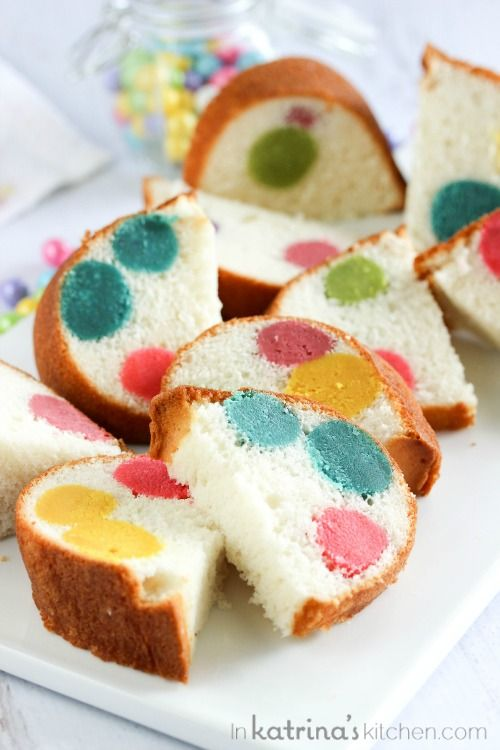 Surprise Inside Dotty Cake- a simple Bundt cake filled with a colorful surprise!