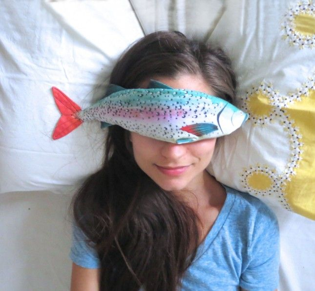 Get a good nap in with the help of this rainbow trout lavender eye pillow.