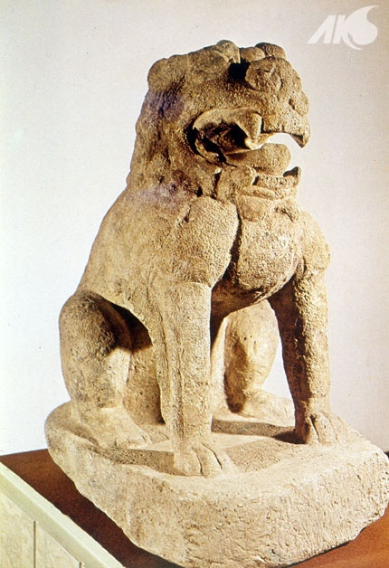 [Middle Ages-Unified Silla Southern and Northern Kingdoms Period(Balhae)] Stone lion statue of Balhae from Princess Jeonghye's royal tomb