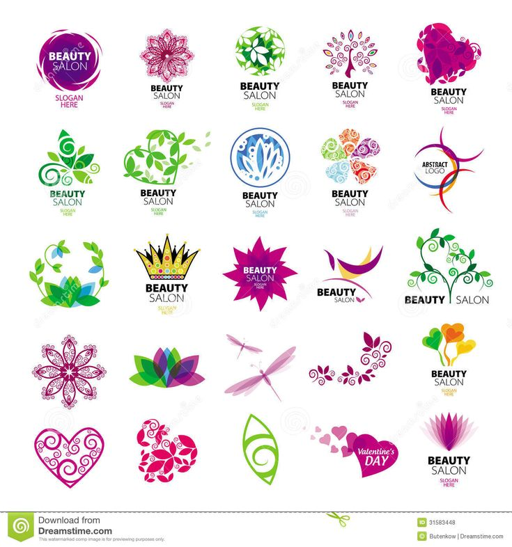 Logotipos De La Colección Para Los Salones De Belleza Fotos de archivo libres de regalías - Imagen: 31583448