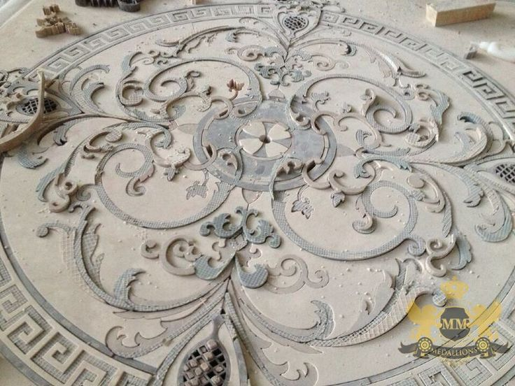 Interesting Stone Floor Medallions With Water Jet Marble