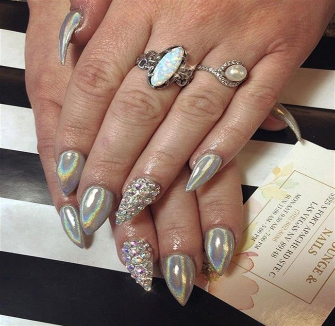Top Trendy Holographic Nail Art Ideas Fashonails Holographic Nails Nail Art Trendy Nails