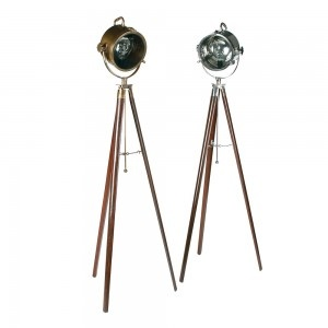 Ex Photoshoot Shipper Floor Lamp-Brown / Pewter