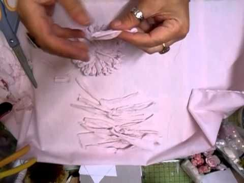 Shabby Chic Knotted Flower Tutorial - jennings644 - YouTube