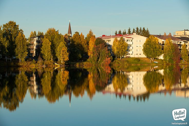 Beautiful Autumn scenery in Rovaniemi.