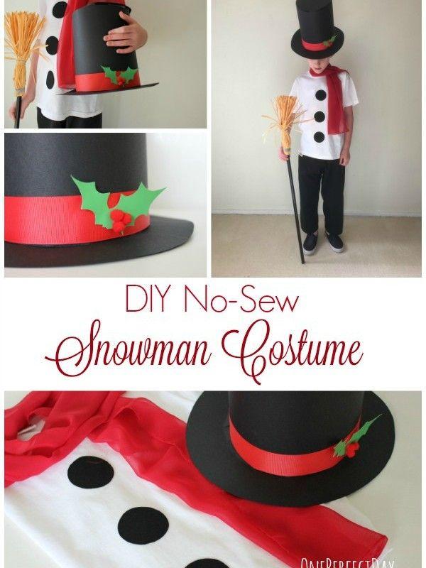 48 best christmas costume ideas images on pinterest christmas diy no sew kids snowman costume solutioingenieria Gallery