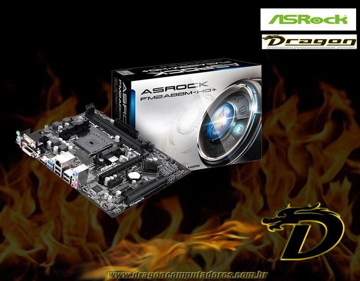 Oferecendo uma grande variedade de recursos, a Placa Mãe FM2A88M-HD+ da ASRock é uma ótima opção para quem pretende elevar o desempenho de seu computador!  Ela possui tecnologias como A-Tuning, XFast 555, X-Boost, FAN-Tastic Tuning e USB Key, além de ser equipada com PCI Express 3.0, SATA 6 Gb/s e suportar até 32GB de memória RAM. E com preço ótimo!! Venham conferir!! www.dragoncomputadores.com.br