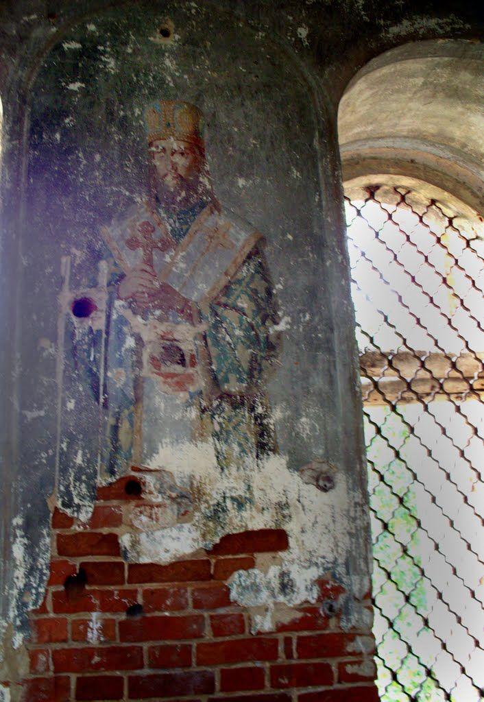 Лики Святых в Георгиевской церкви с.Закопы