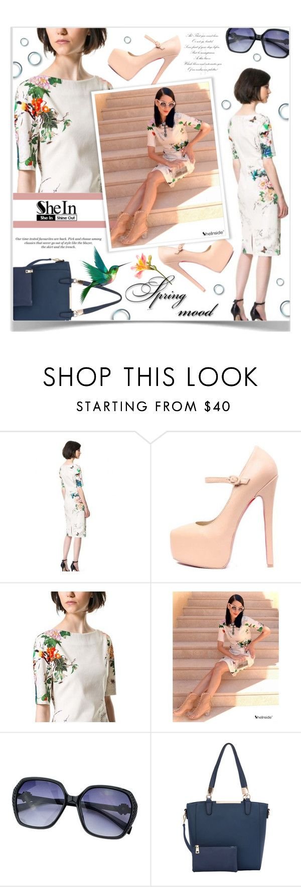 """Spring Dress"" by chathurika-gamage ❤ liked on Polyvore featuring H&M"