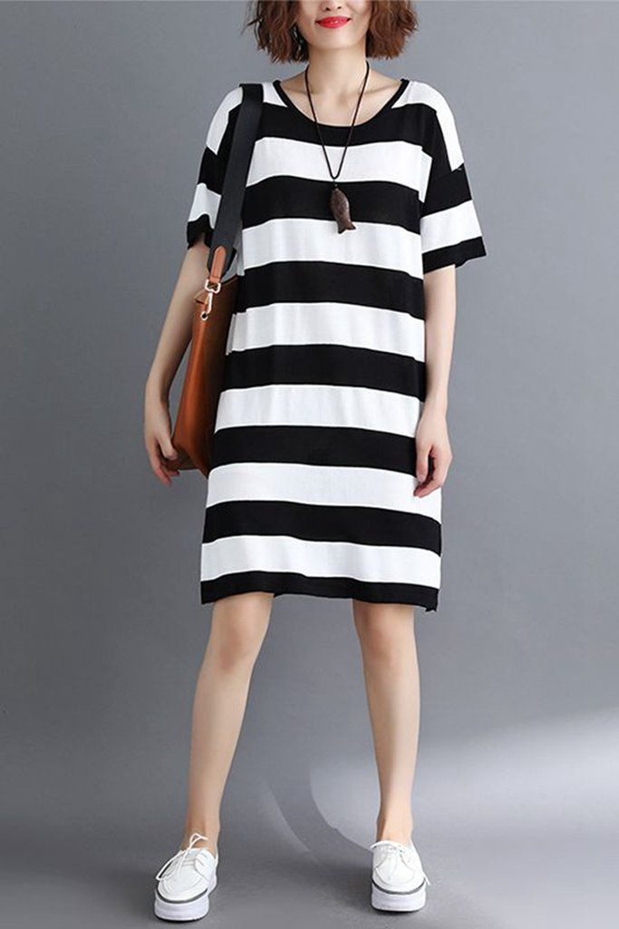95a4696b Cute Casual Striped Fitted Shirt Dresses For Women Q1962 | Stripe ...