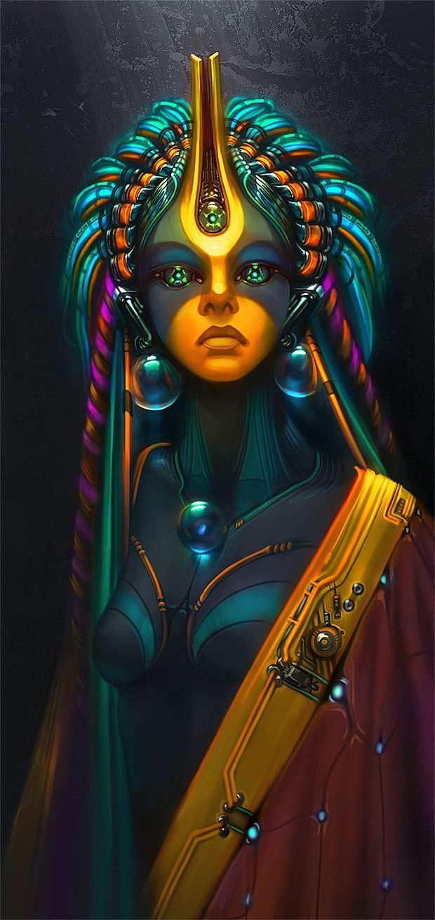 AI Priestess -Amazing Digital Art by Wen-jr