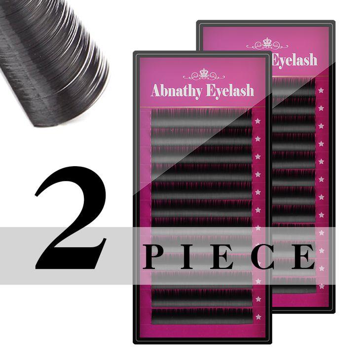2 Boxes set MINK eyelash extension super soft black curl type, artificial eyelash Fake False Eye Lash Eyelashes,Free Shipping
