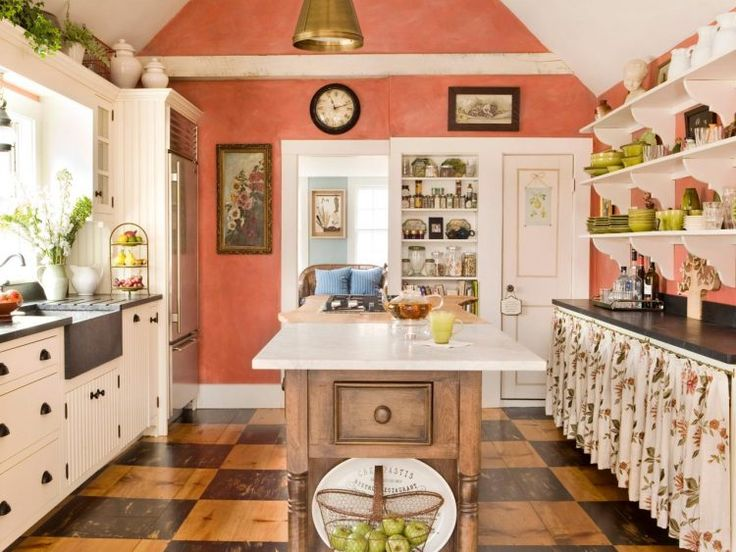milk-paint-coral-kitchen-walls