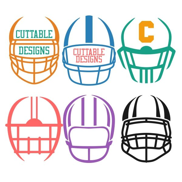 Football Helmet Cuttable Design SVG Cuttable Design Cut File. Vector, Clipart, Digital Scrapbooking Download, Available in JPEG, PDF, EPS, DXF and SVG. Works with Cricut, Design Space, Cuts A Lot, Make the Cut!, Inkscape, CorelDraw, Adobe Illustrator, Silhouette Cameo, Brother ScanNCut and other software.