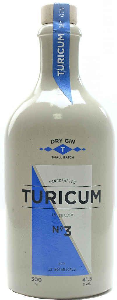 Gin von Turicum in der 0,5 liter Flasche mit 41,5% Vol.Alc.
