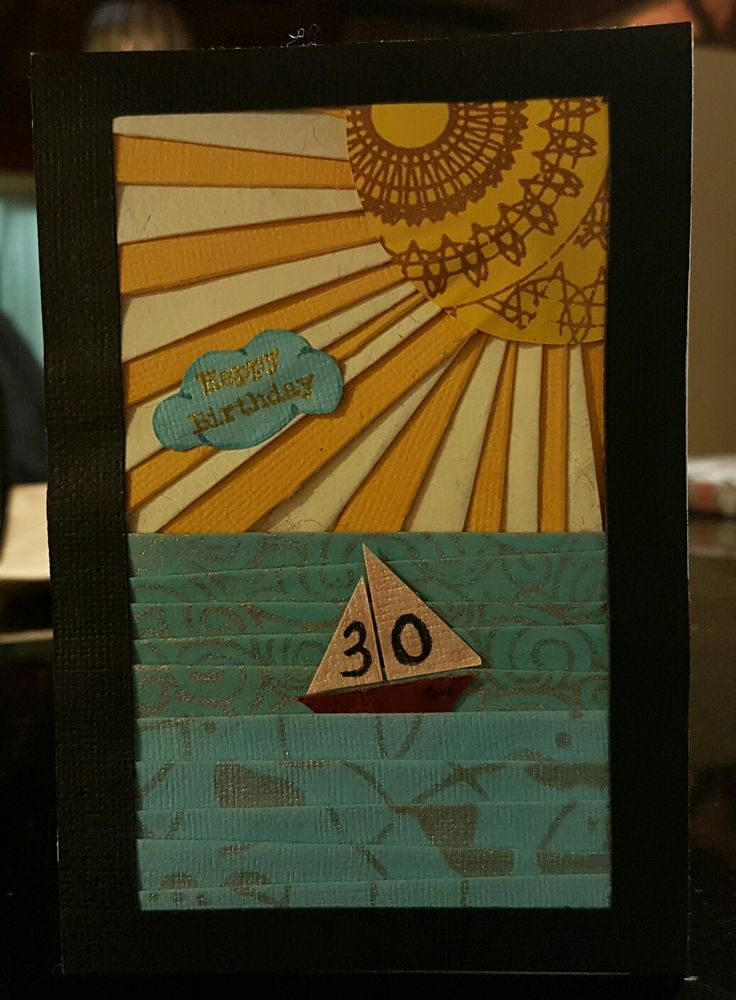 30th Birthday Sailing Card