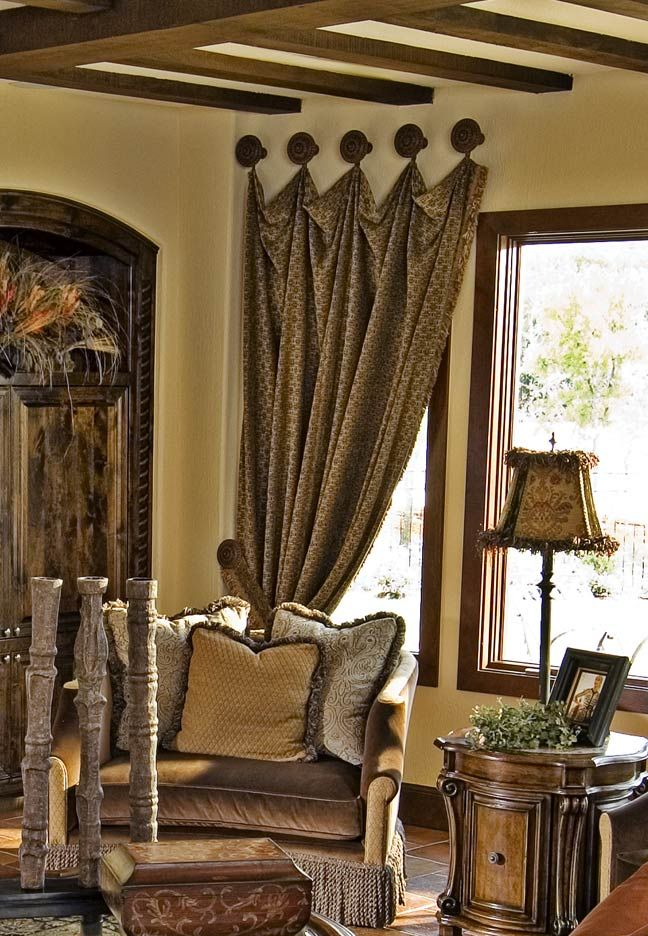 Perfect Great Design By Wesley Wayne Interiors. Metropolis Iron Provides Many Size Drapery  Medallions.