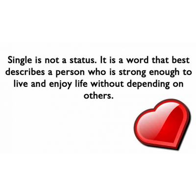 quotes about being unmarried | Being Single | Quote | Saying | Single Status