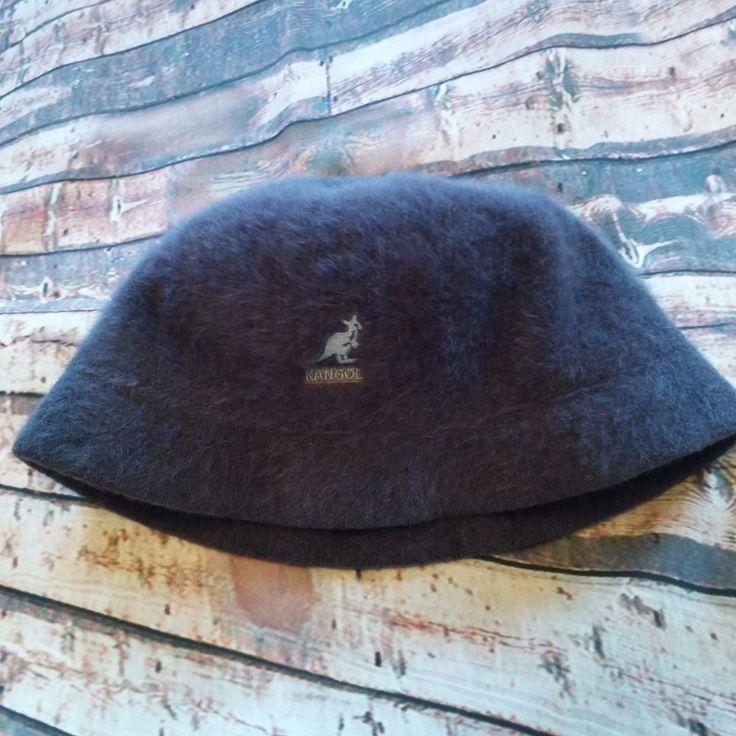 Kangol Furgora Casual Bucket Hat Unisex Sz Med Gray ANGORA Child Size #Kangol #BucketHat