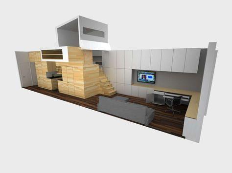 Een klein appartement in New York vol slimme opbergoplossingen - Roomed